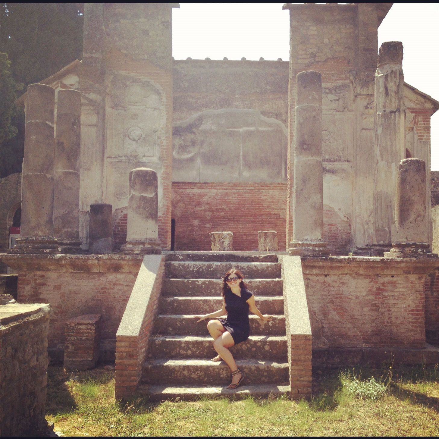 The Isis temple in Pompeii where Rochelle's body guided her to be brave enough to jump the rope and touch the stone.