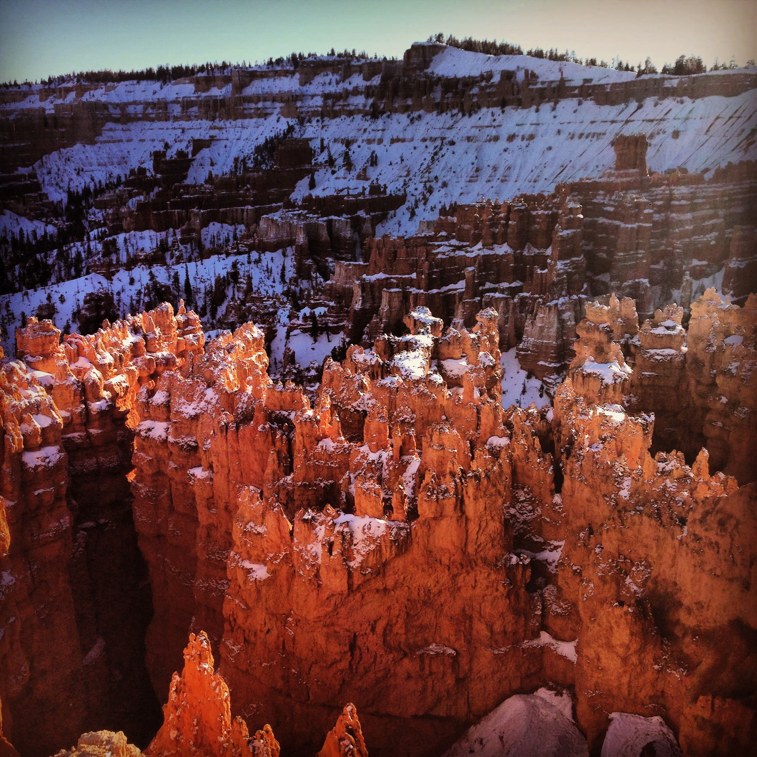 The magic and majesty of the mountains and hoo doo's in Bryce Canyon in Utah