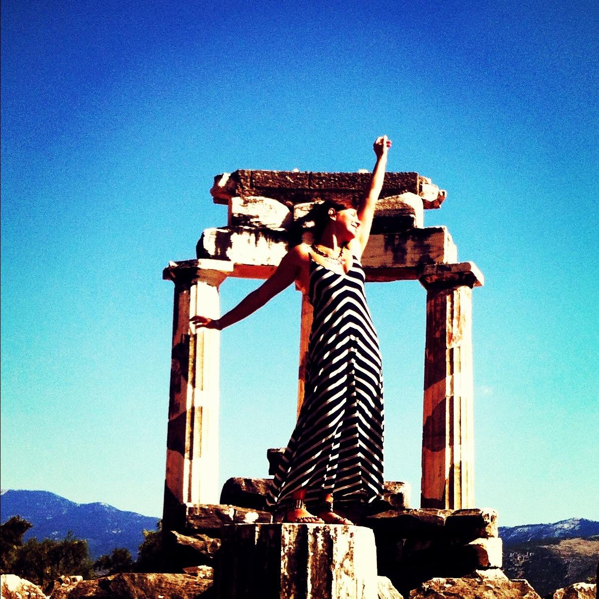Sanctuary of Athena, Delphi built in 7th century BC
