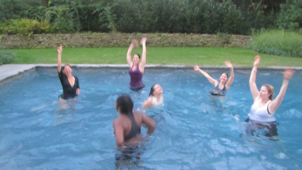 There was a moment where we were in full expressive free dance, and it just seemed right to transition to dance in the pool!