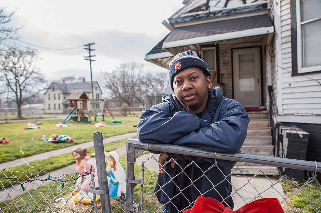 "Shannon Taliaferro left Detroit at age 10. He returned to the city years later. ""Detroit's got a lot to offer, it's coming back, coming back."""