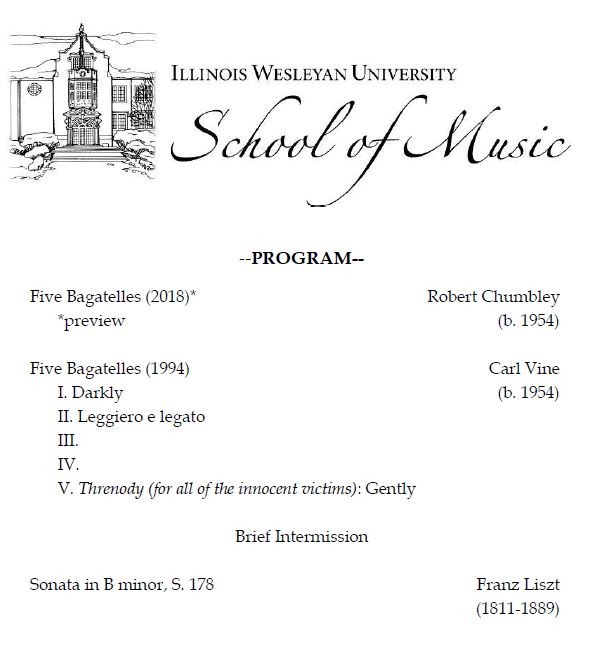 Guest Recital Series. - The Illinois Wesleyan University School of Music presents Dr. Silvan Negrutiu, piano, in its Guest Recital Series.