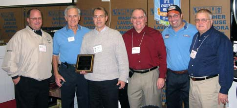 Steve Banko Presentation  (Left to right: Ross Van Horn, Richard LaMaina, Stephen J. Banko Jr., Randy Karn, Dan Massimini and Dick Ruel)