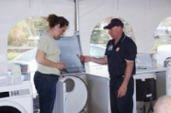 Attendees were able to get up close and personal instruction on maintenance and repairs of Maytag washers and dryers