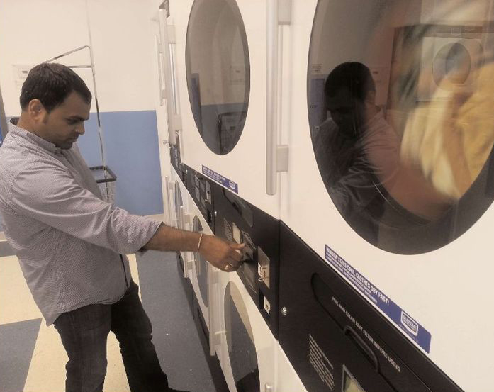 Mayur Patel co-owns SAI Coin Laundry, a Maytag-equipped laundry on Arctic Avenue in Atlantic City. Patel's partner is Dipak Goswami, who owns an adjacent convenience store.