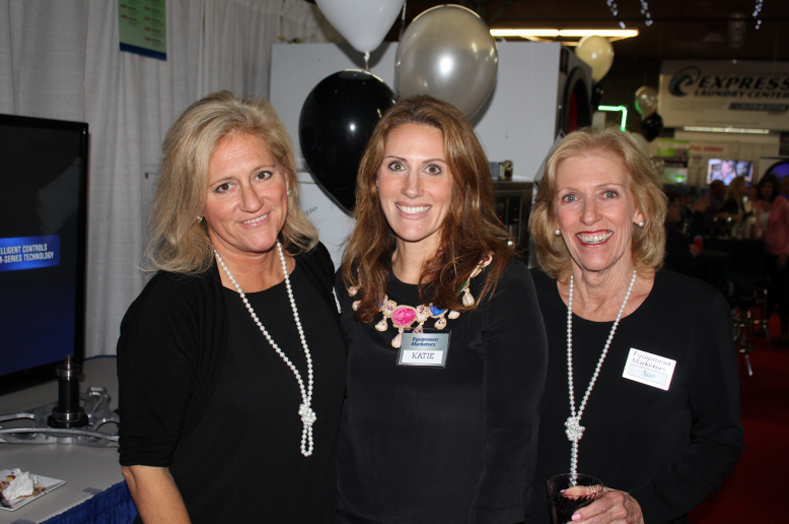 Barbara Collins, Katie Weitzman and Susan LaMaina of Equipment Marketers.