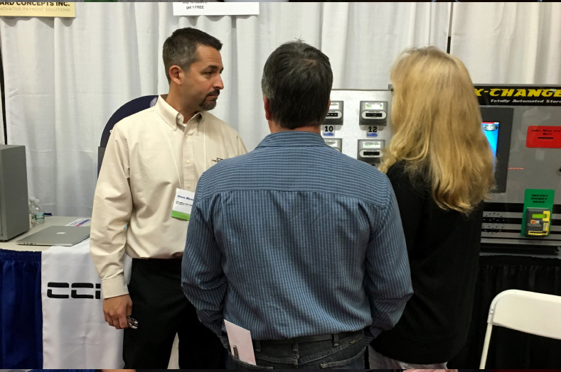 Customers learned about one of the leading brands of credit cars and payment acceptance from Steve Marcionetti of Card Concepts Inc.