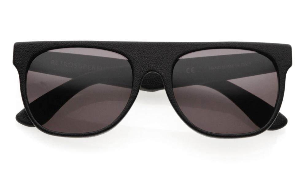 Black Leather Sunglasses from Retrosuperfuture
