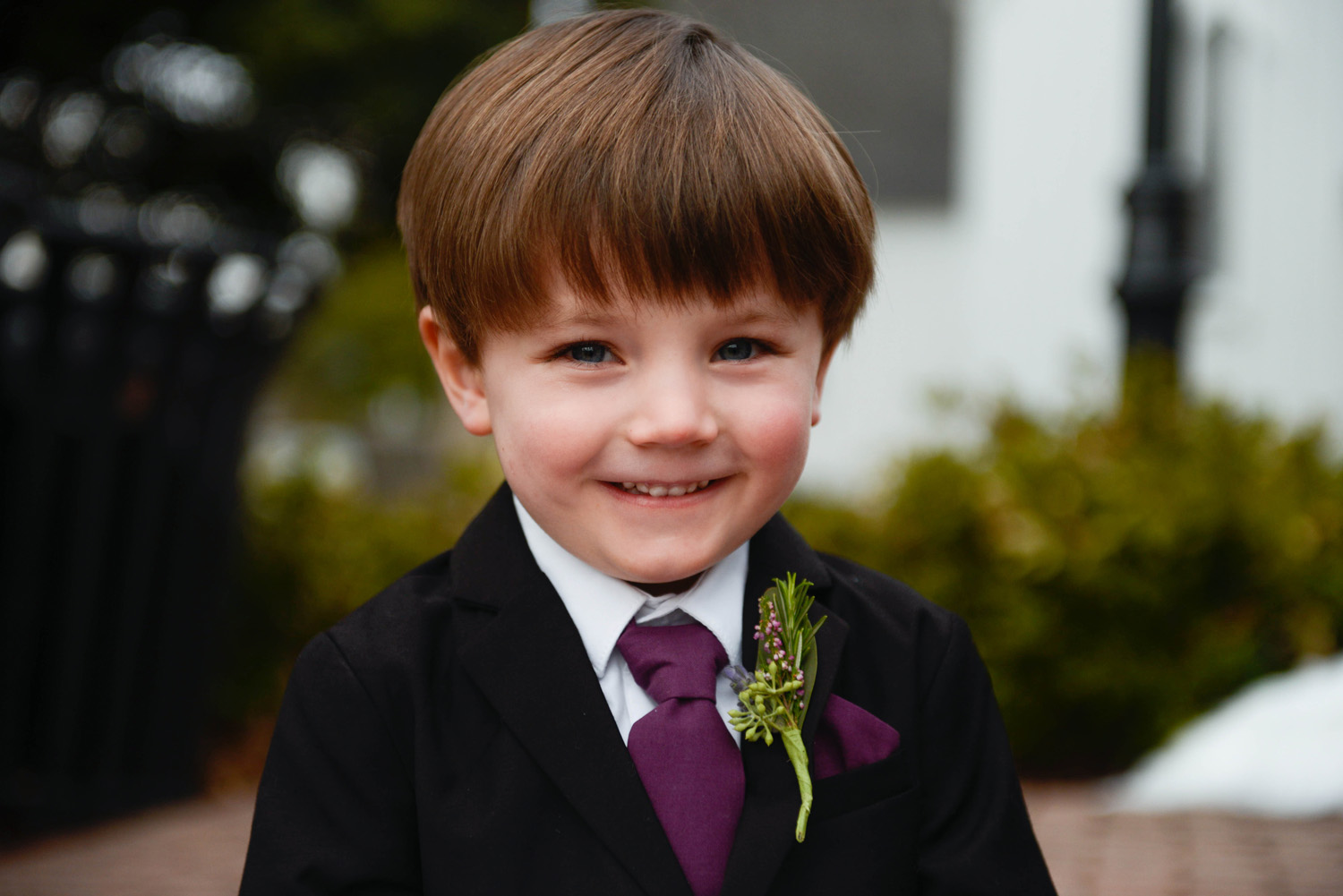 Ring Bearer at a Raleigh Wedding