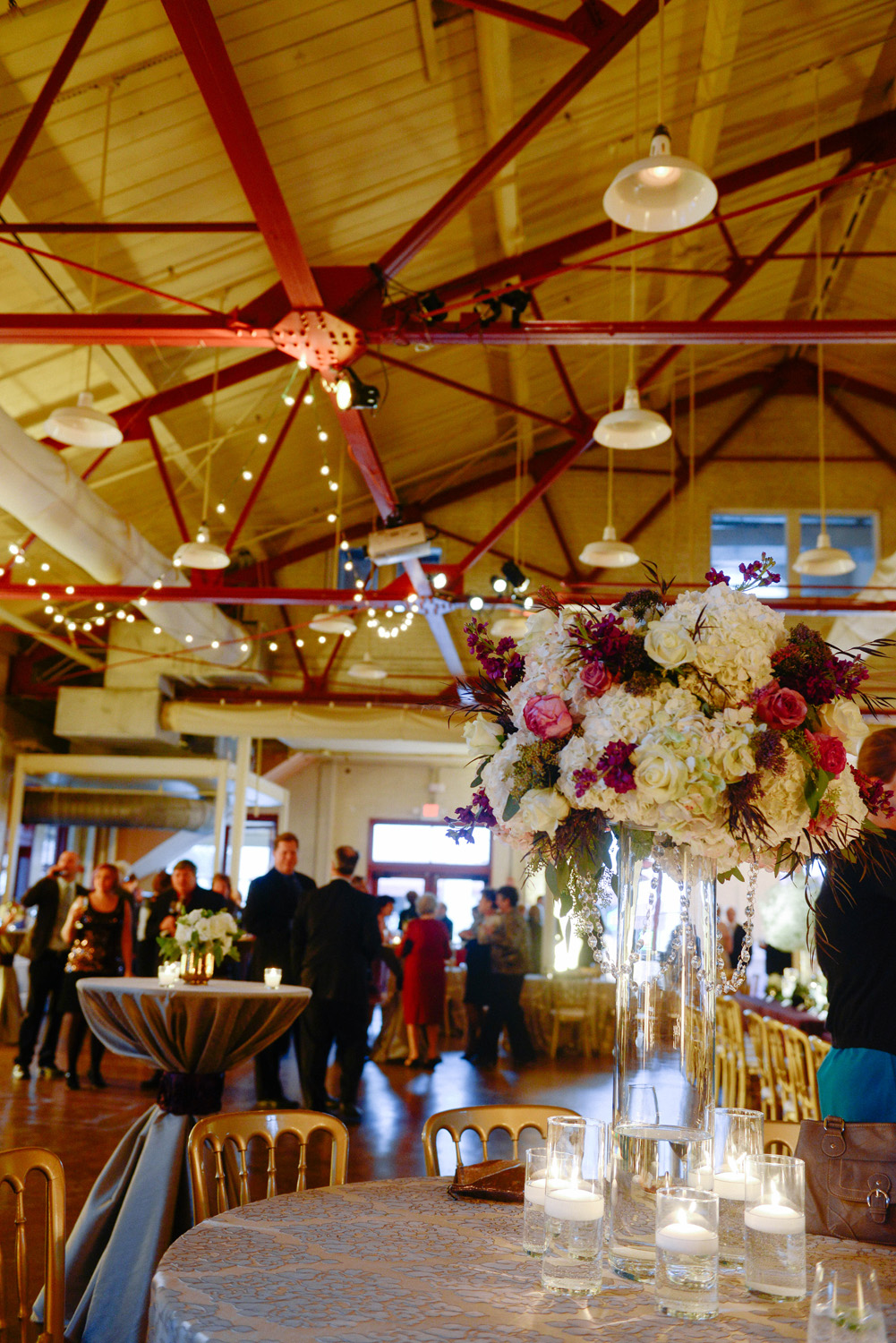 Large Centerpieces at Raleigh Wedding