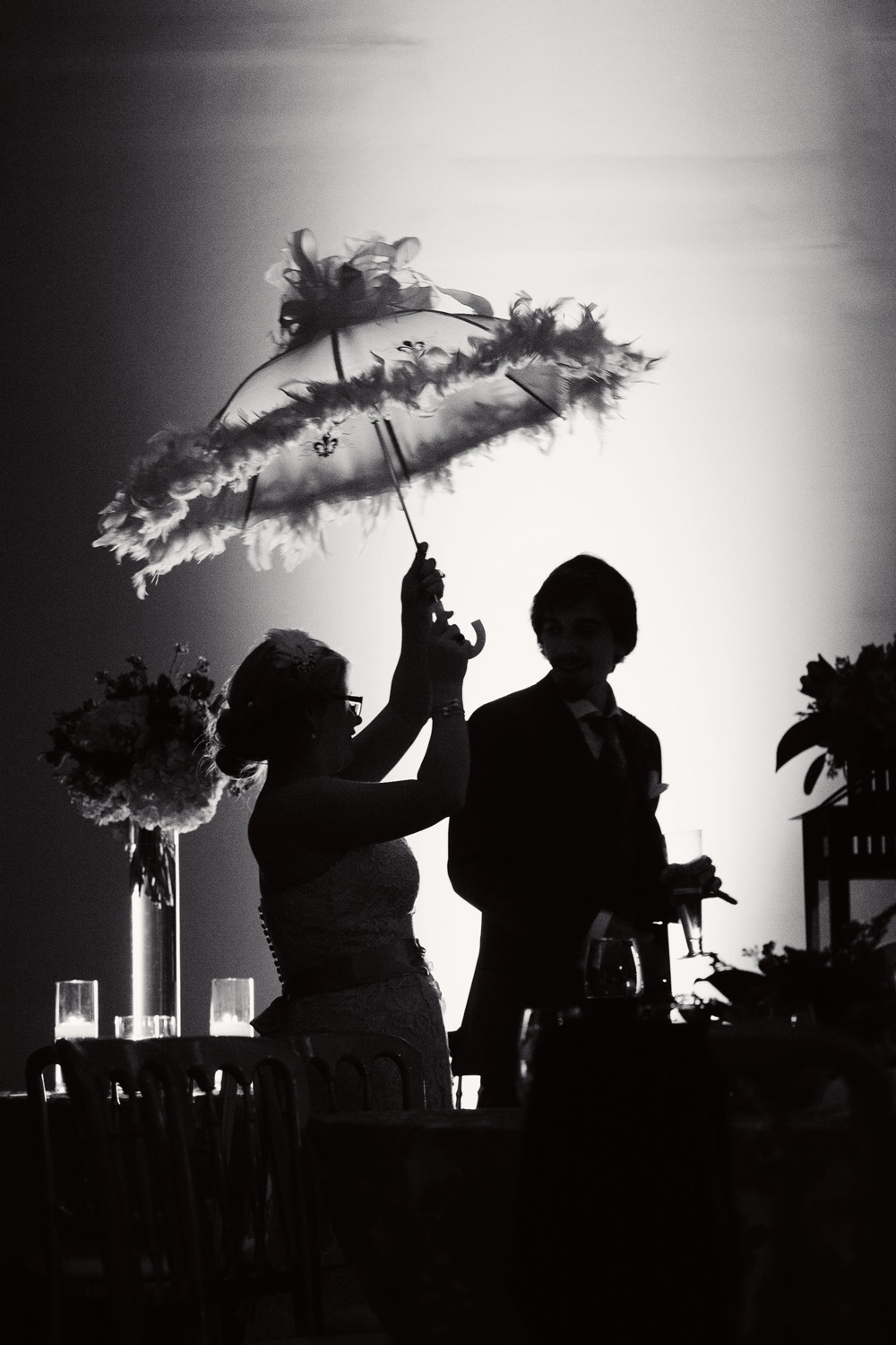 Feather Umbrella Wedding