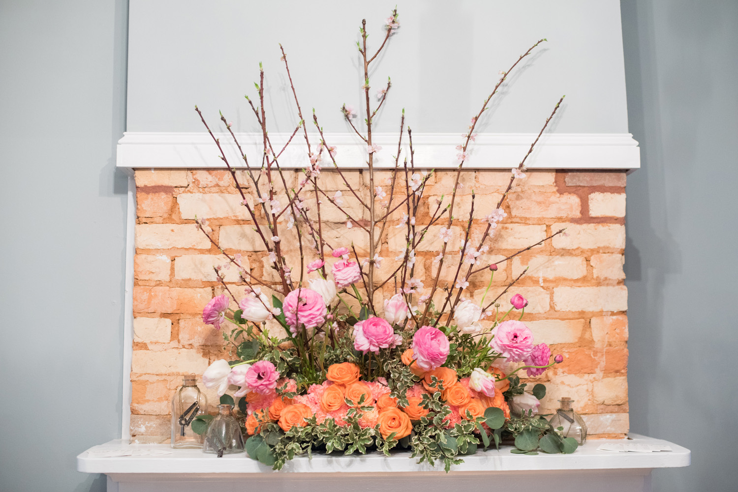 Pink & Orange Wedding Flowers