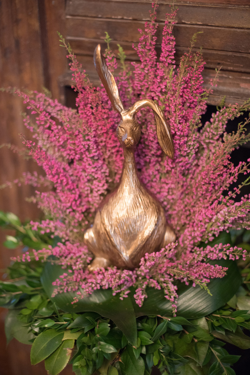 Gold Rabbit Statue