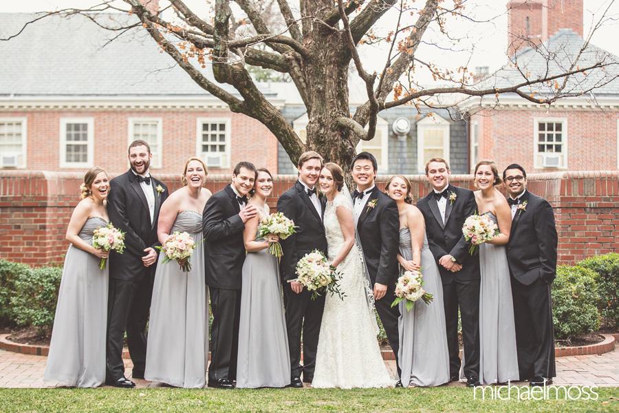 Carolina Inn Wedding, Bryan Courtyard Wedding Party