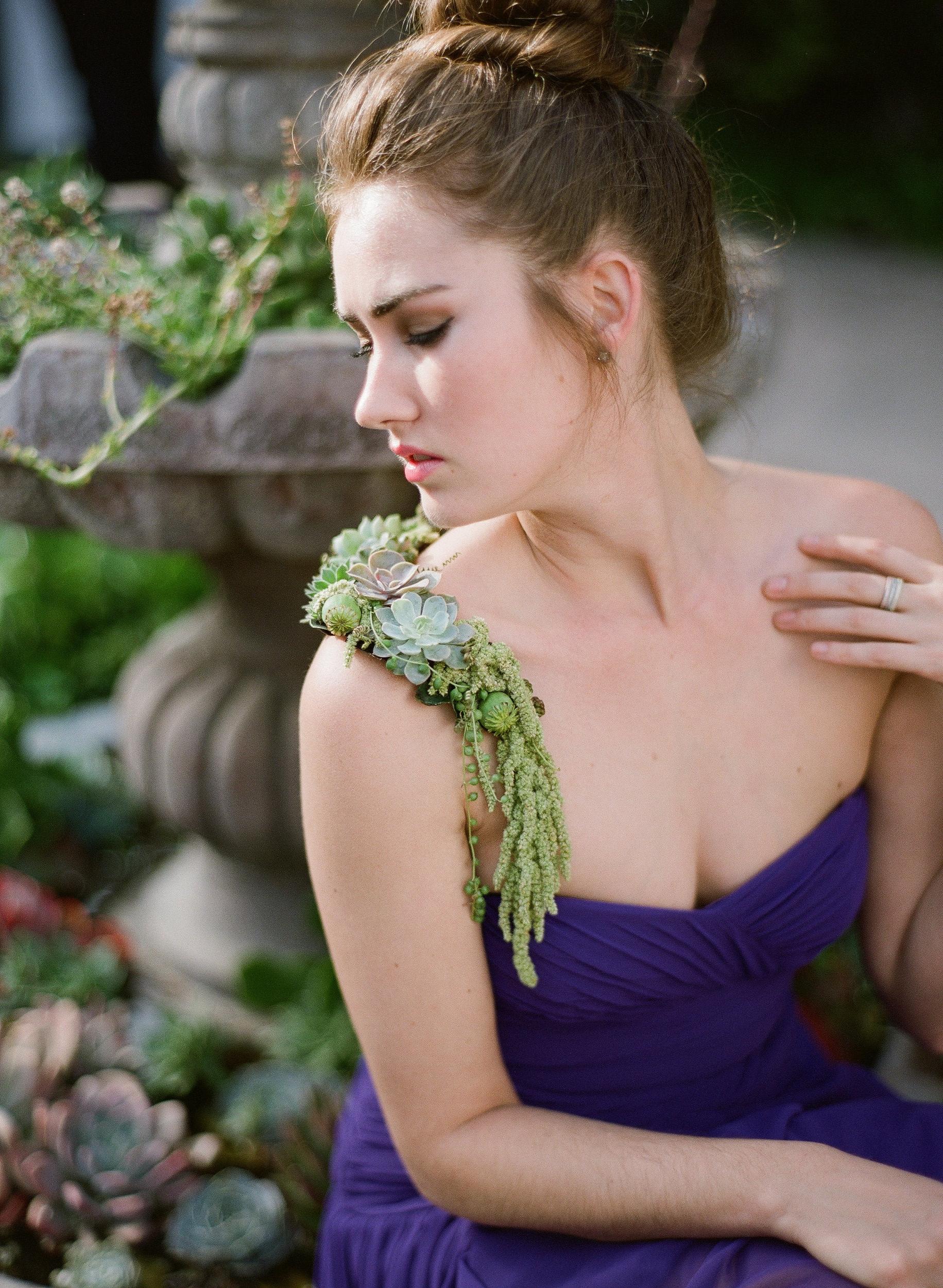 Shoulder Corsage, Floral Accessories, Succulents