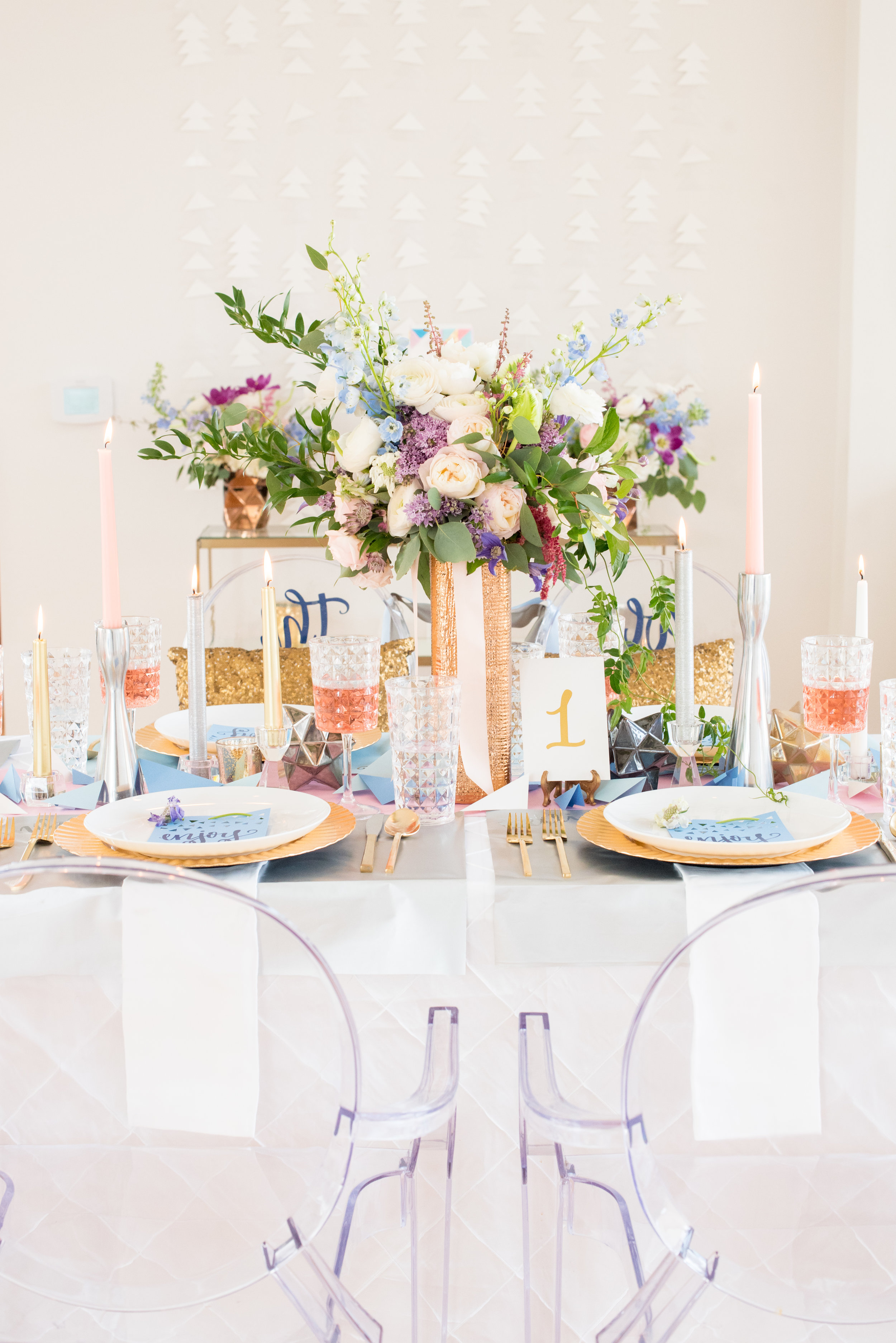 The Glass Box, Paper Inspired Wedding, Pantone Color of the Year, Rose Quartz and Serenity