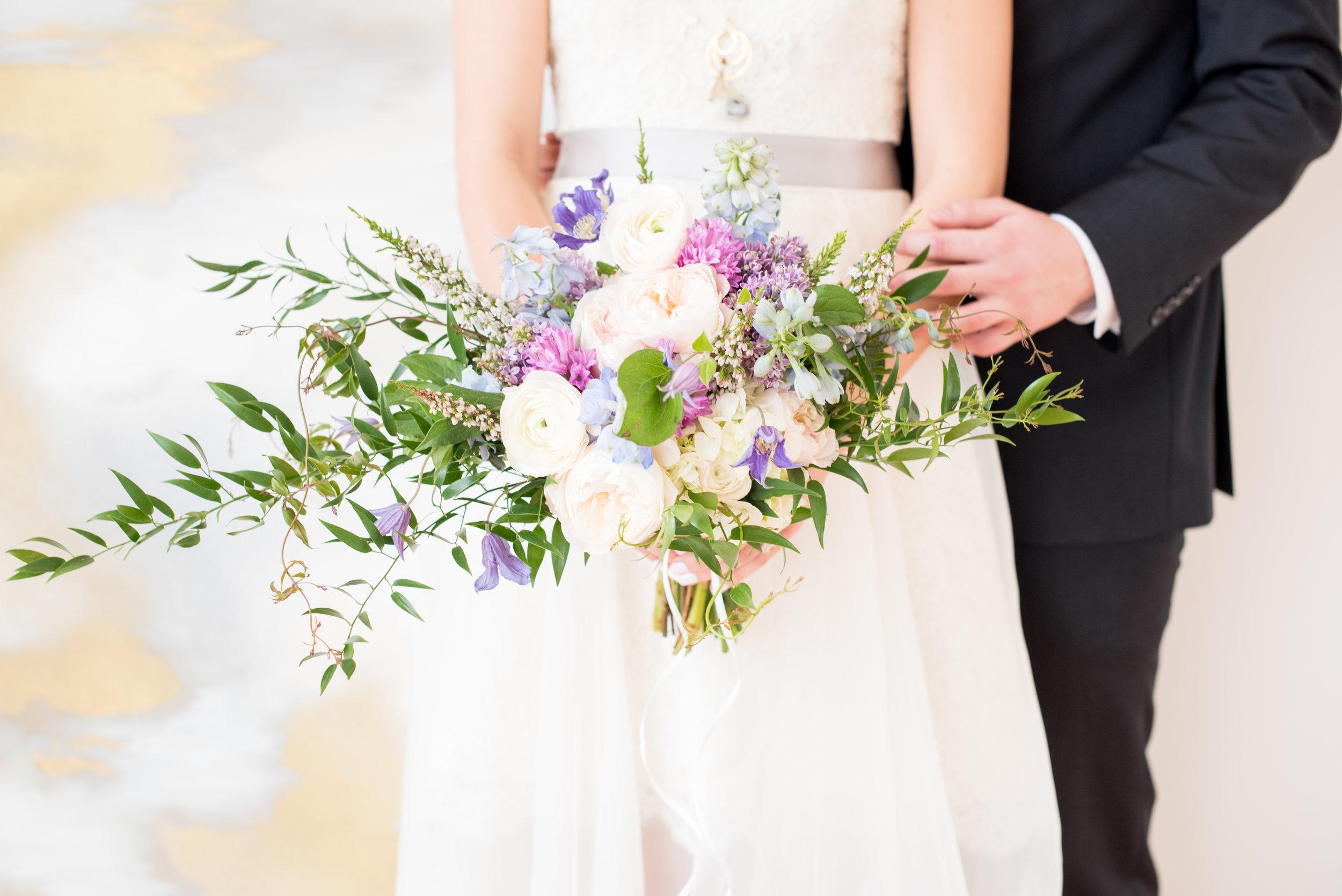 Pantone Wedding, Rose Quartz, Glass Box, Bridal Bouquet