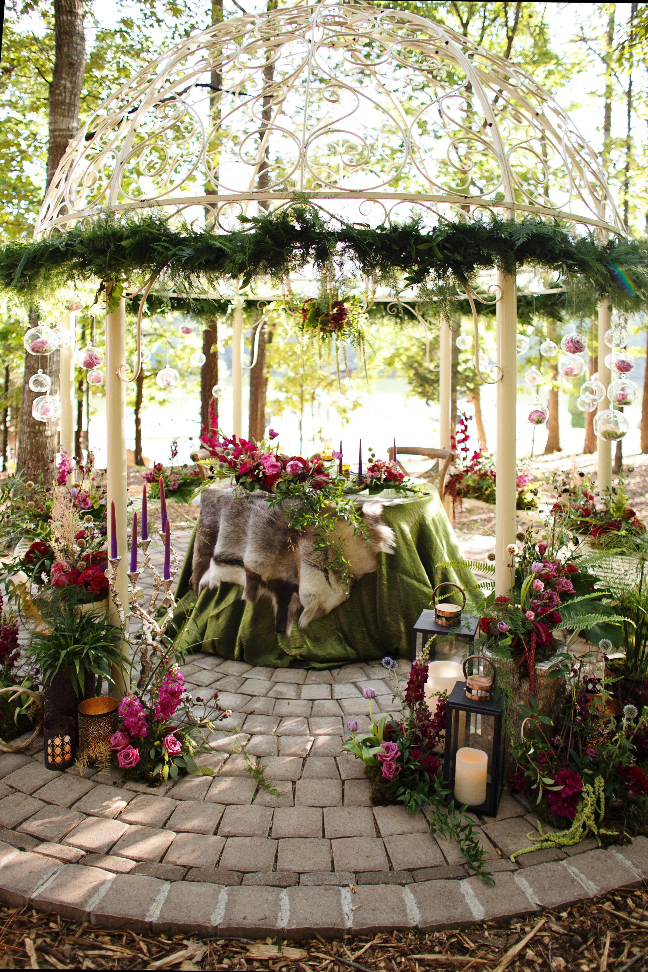 Wedding Gazebo, Enchanted Woodland Wedding
