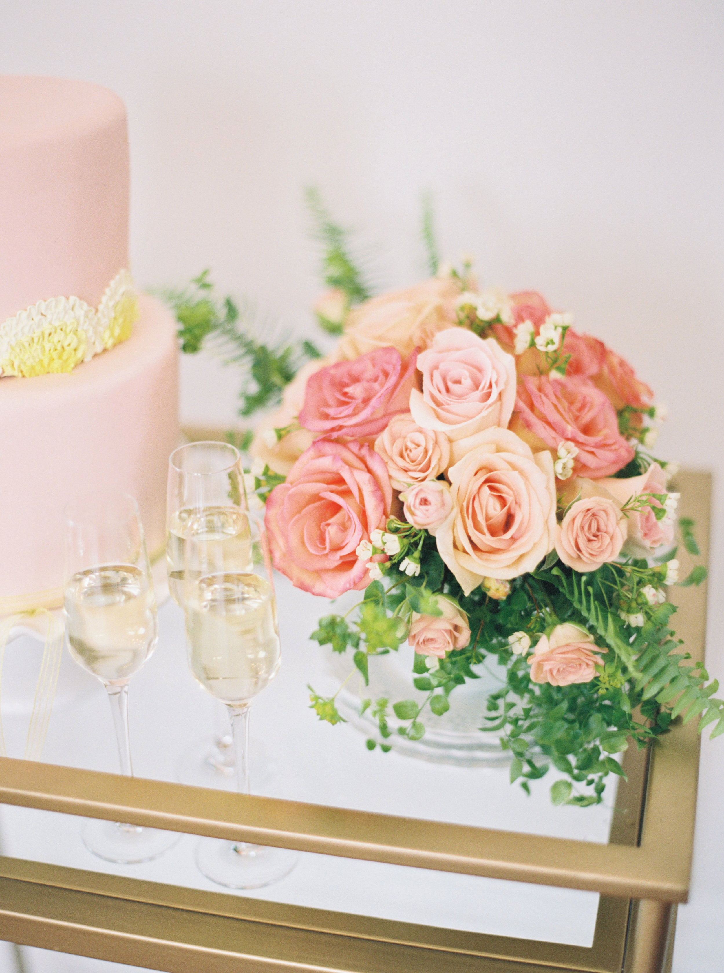Rose Arrangement at Merrimon Wynne for Southern Weddings