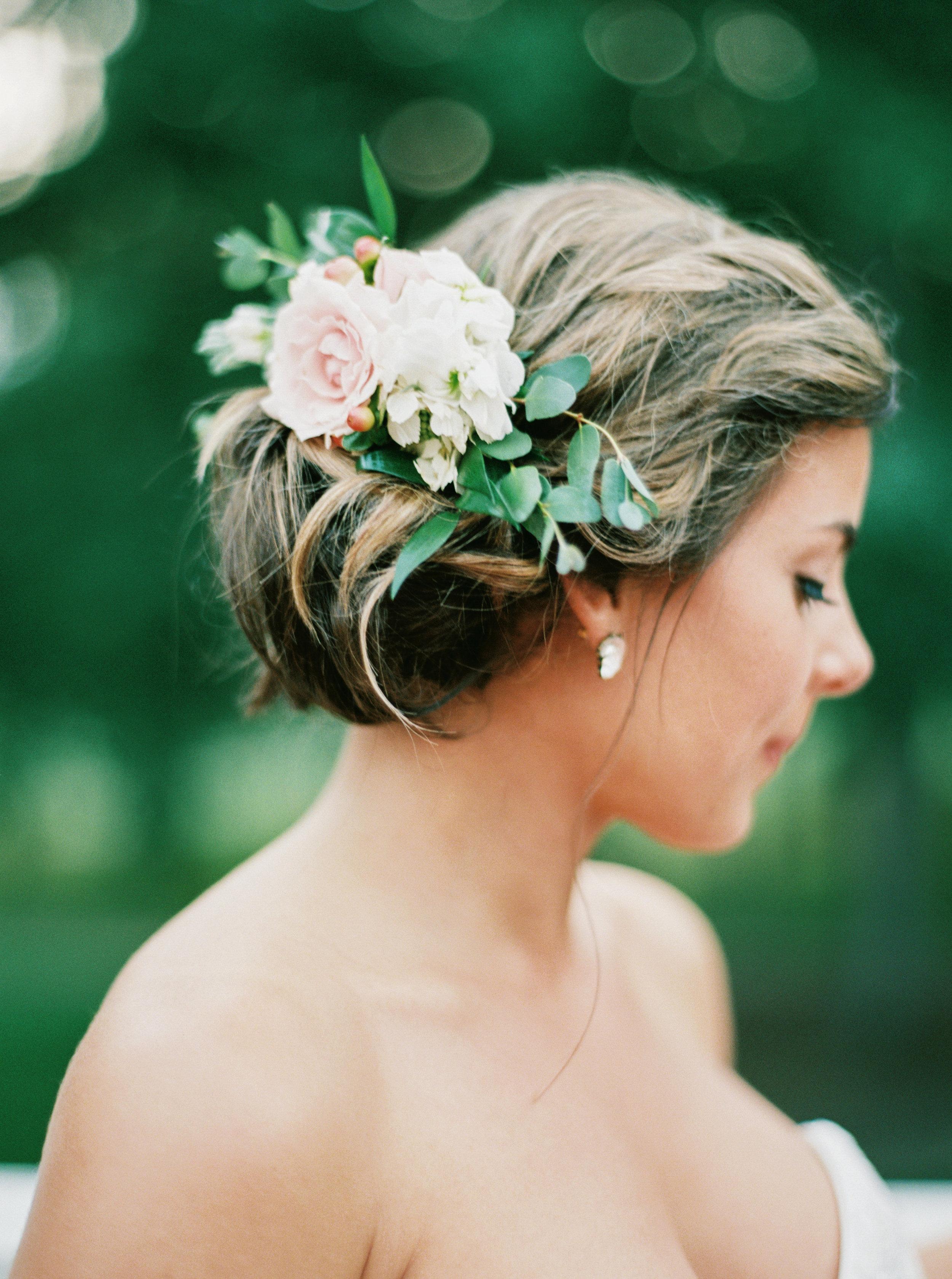 Bridal Hair Flowers, Durham Wedding