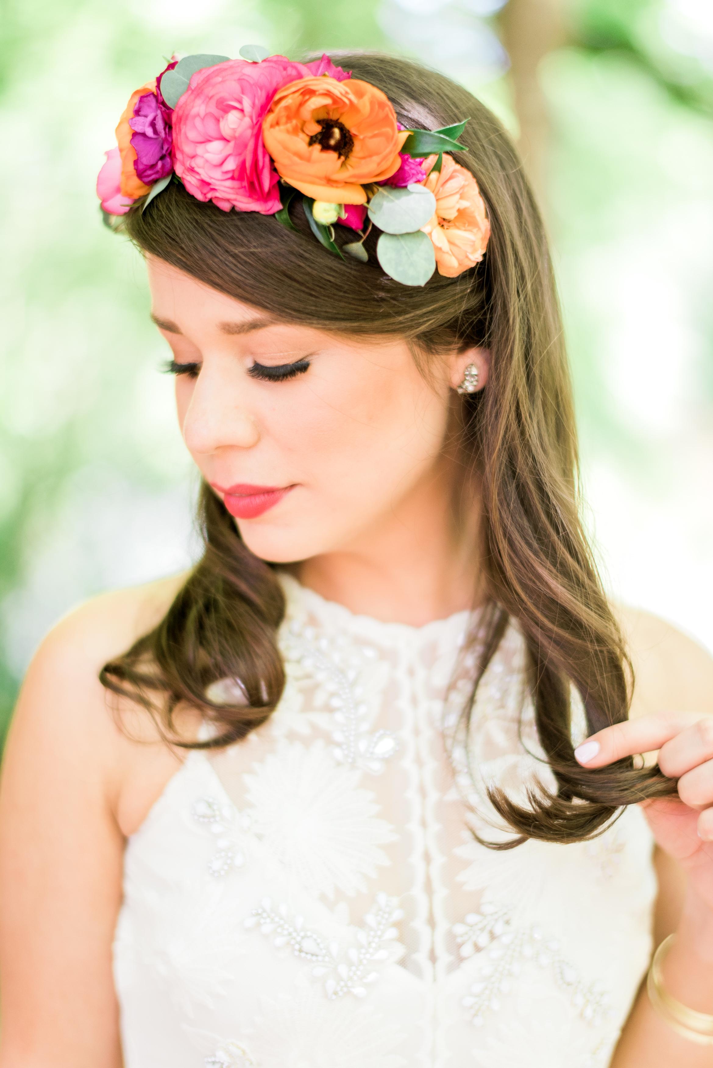 Bridal Floral Crown, Raleigh Event Florist