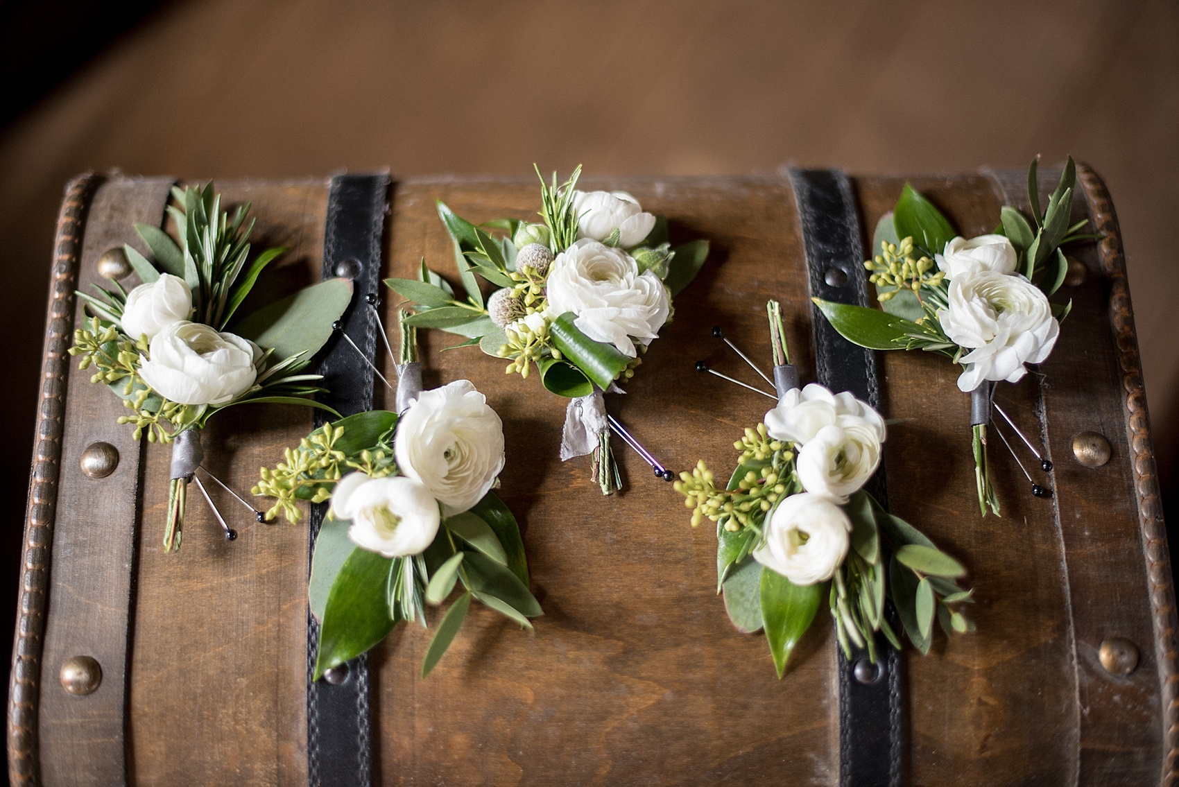 Bouttonieres for a Sutherland Wedding in Wake Forest NC
