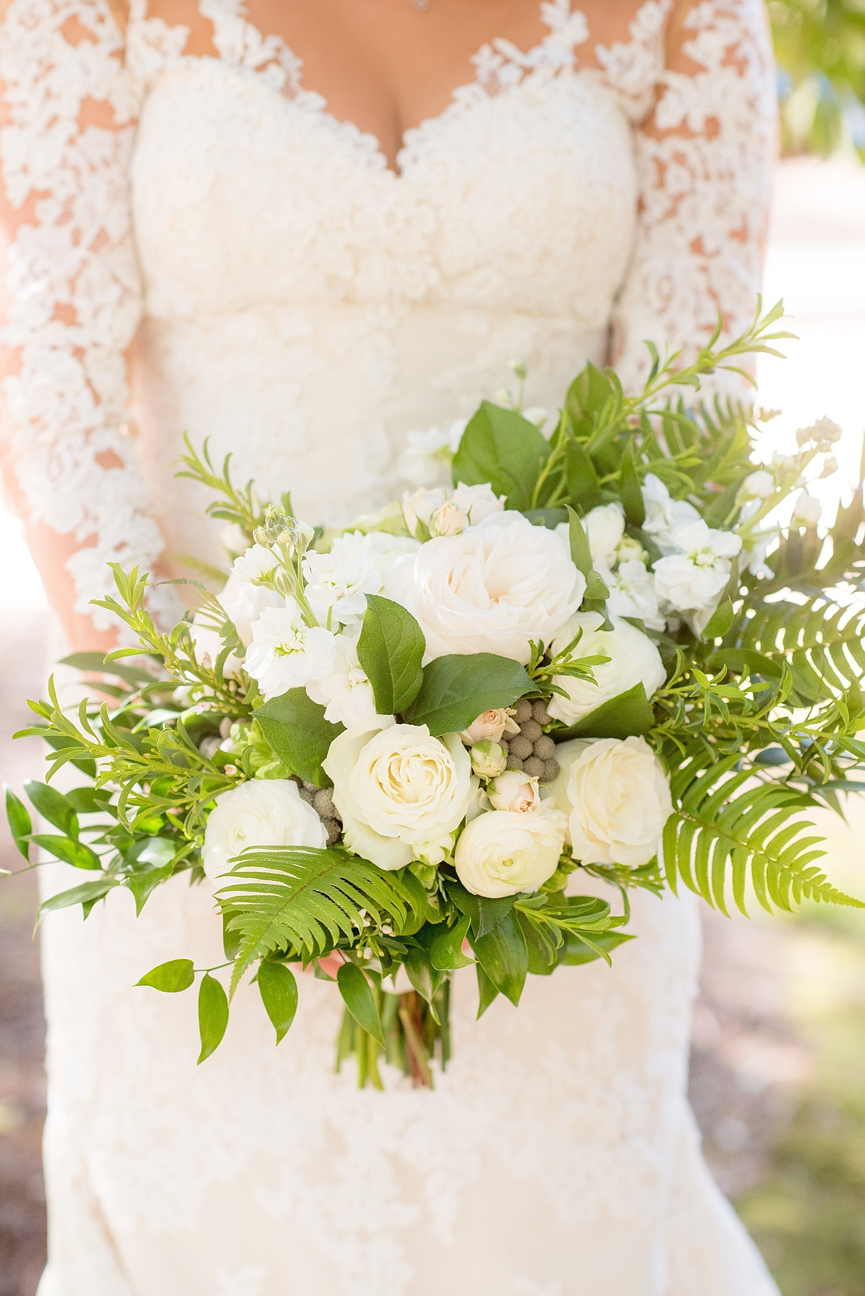 The Sutherland Wedding, Eclectic Sage Bridal Bouquet