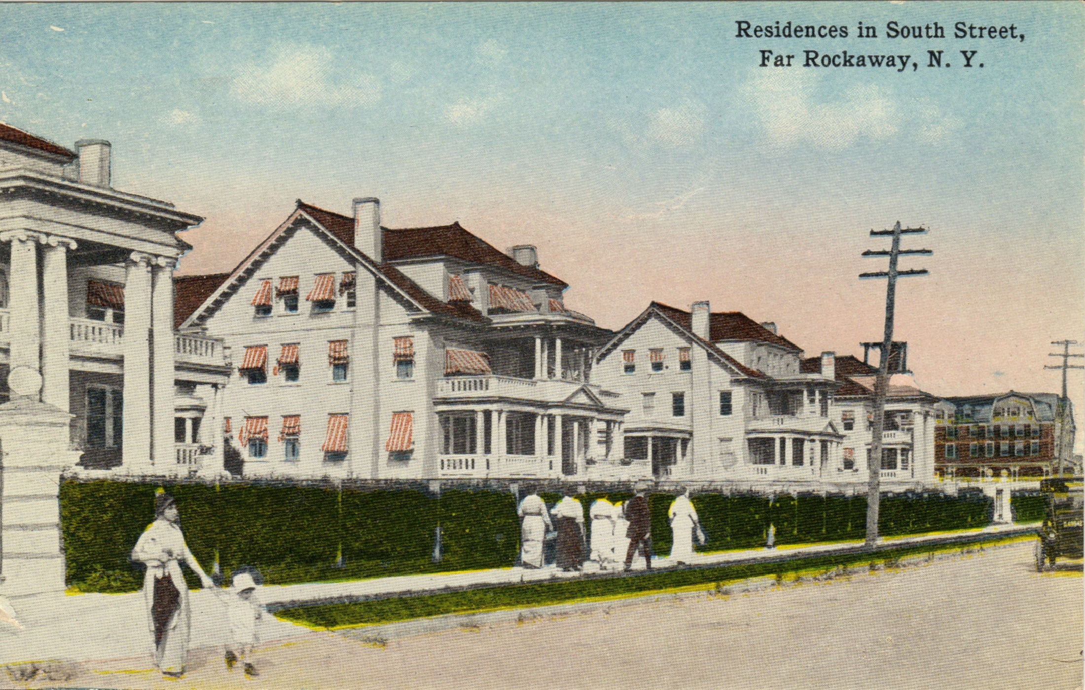 Homes Along South Street Which Later Became Seagirt Blvd. These Homes, Part Of The Roche Estate Eventually Became HILI. The First Jewish Day School On Long Island (which I attended for 9th grade)   Photo courtesy of the  Leiman Library    and The Leiman Collection on  Rockawaymemories.com