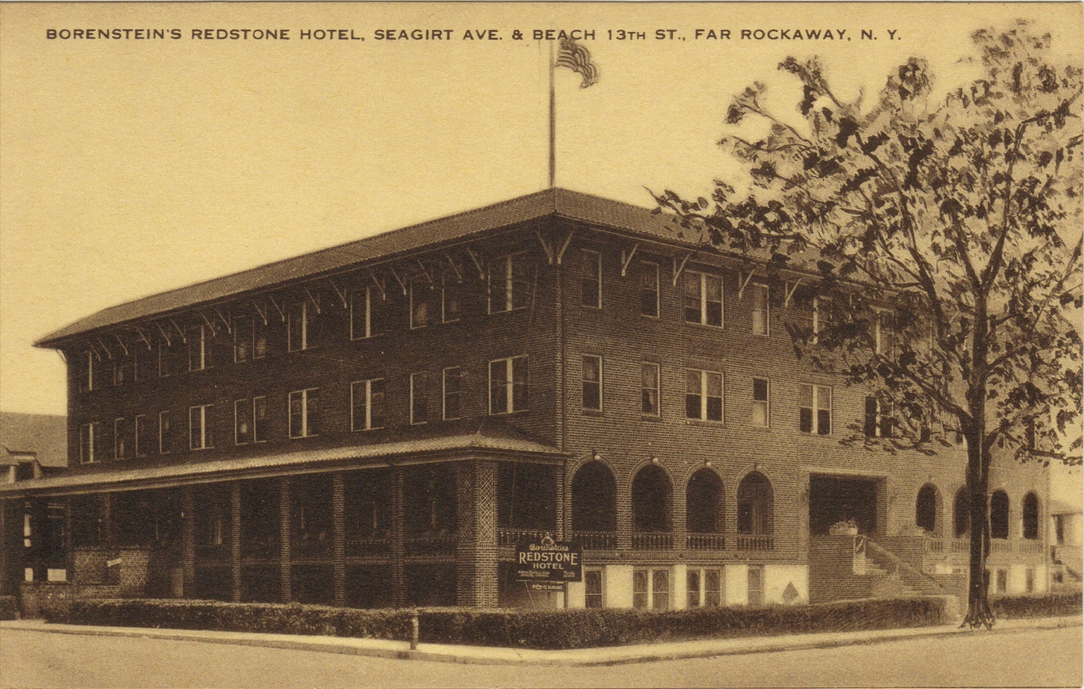 Borenstein's Redstone Hotel    Photo courtesy of the  Leiman Library    and The Leiman Collection on  Rockawaymemories.com