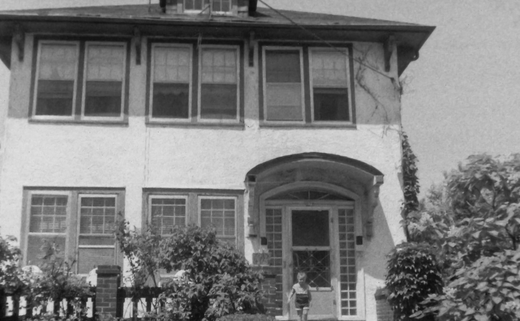 Me On The Front Steps of 279 Beach 15th Street - Apx 1959