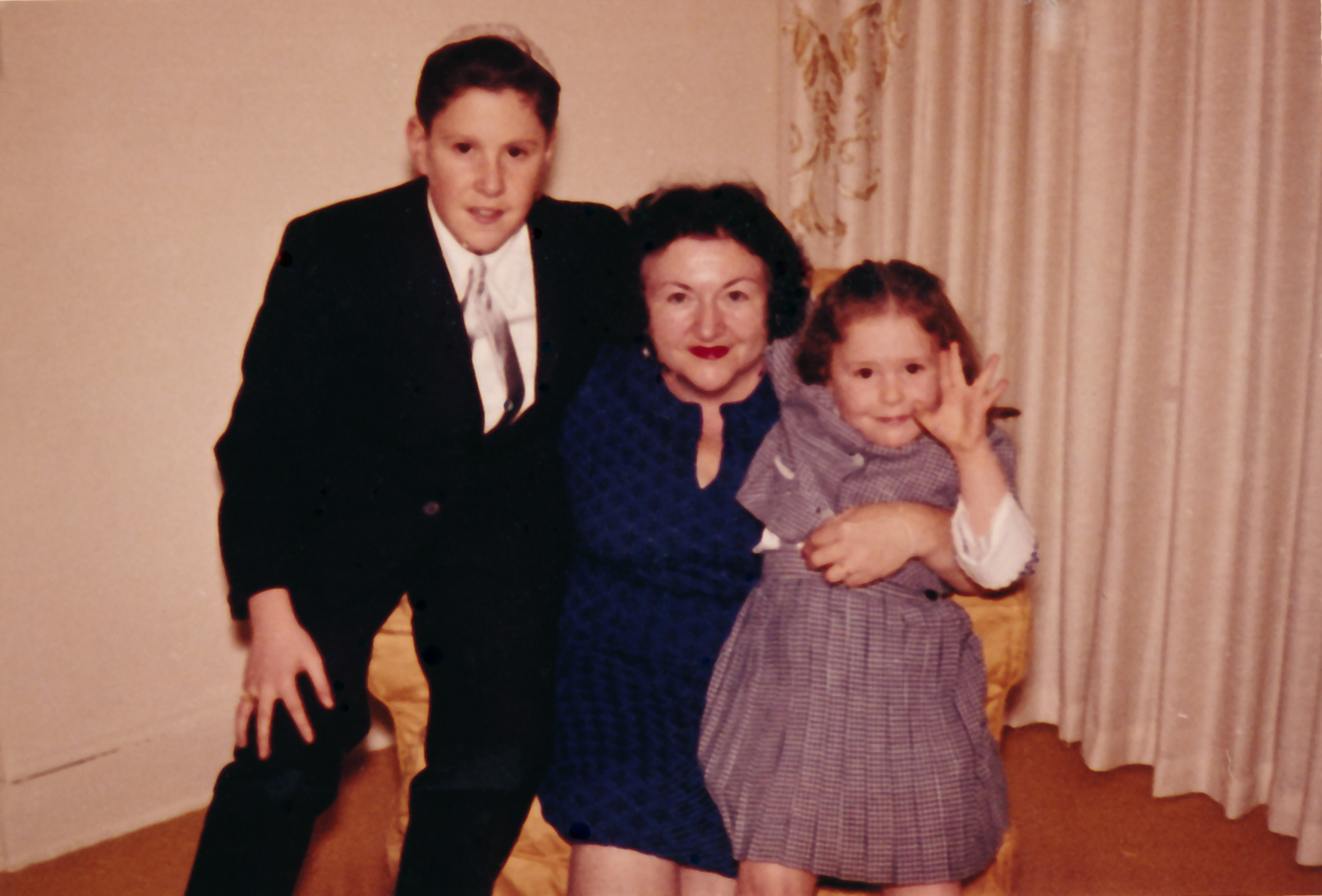 My Brother, Mother And I Before His Bar Mitzvah - Around 1961