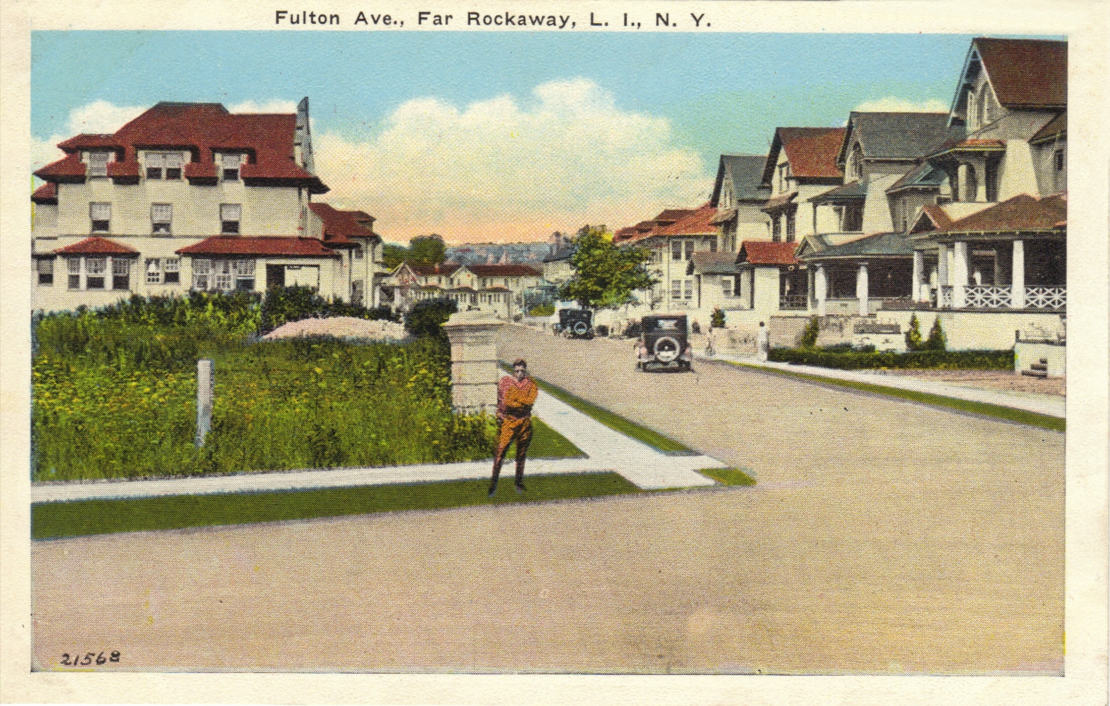 A Postcard View Of Beach 15th Street Which Was Named Fulton Avenue Before Many Far Rockaway Streets Were Given Beach Numbers. While The Changes Were Made In 1916, They Were Not Widely Used Until After WWI.    Photo courtesy of the  Leiman Library    and The Leiman Collection on  Rockawaymemories.com and information via Rockawaymemories.com
