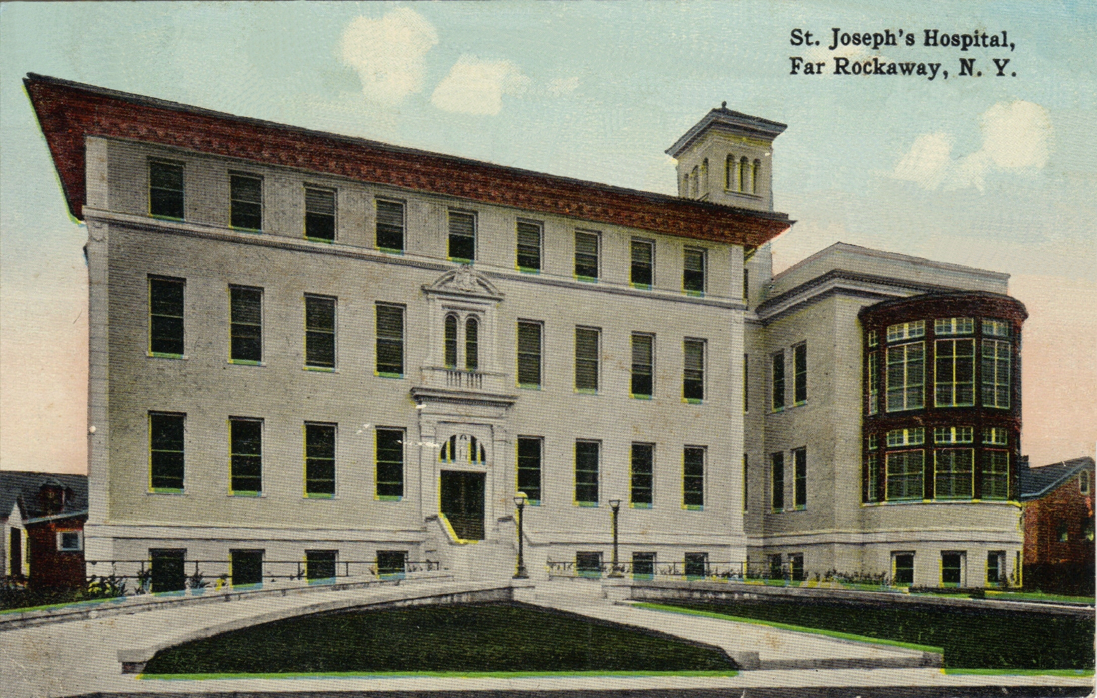 St. Joseph's Hospital    Photo courtesy of the  Leiman Library    and The Leiman Collection on  Rockawaymemories.com