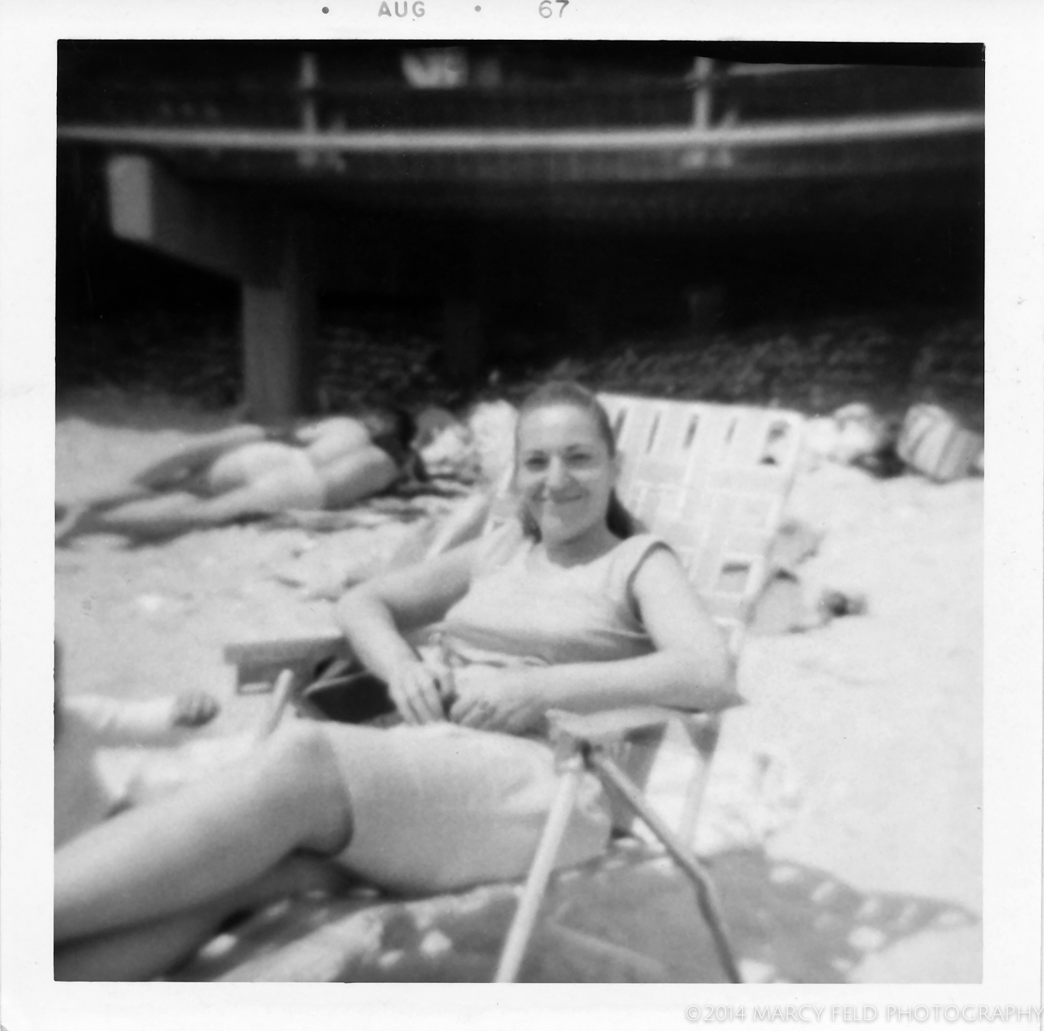 A day at the beach with my aunt in 1967