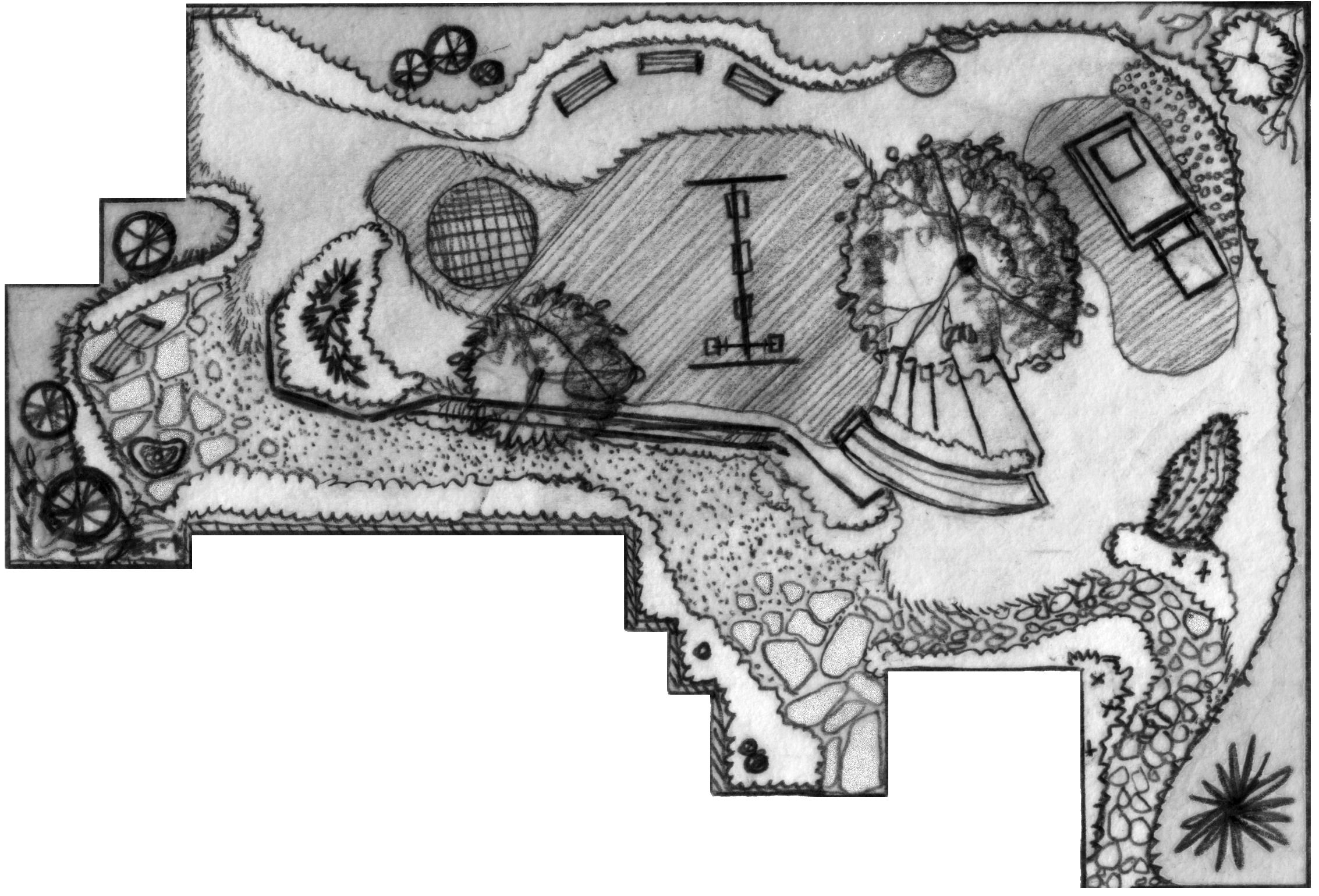 Concept children's garden