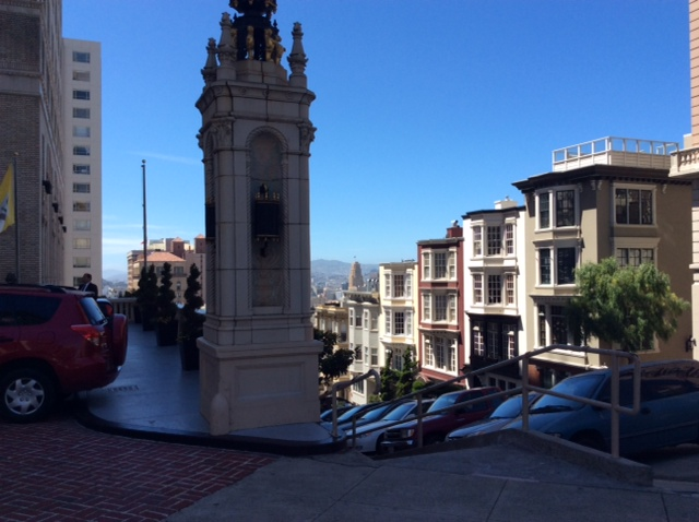 The view down Nob Hill.
