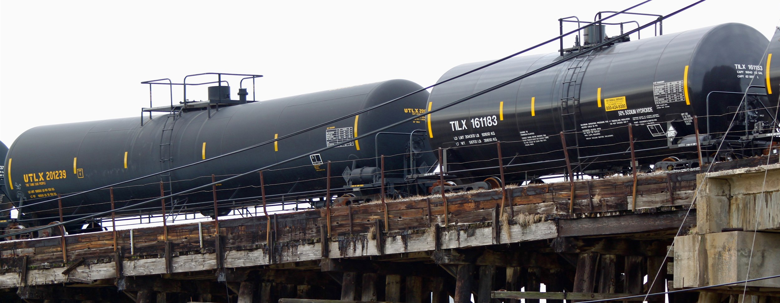 Oil tanker cars at Union Pacific's Englewood Yard, Houston, Texas. Photo courtesy of Roy Luck.