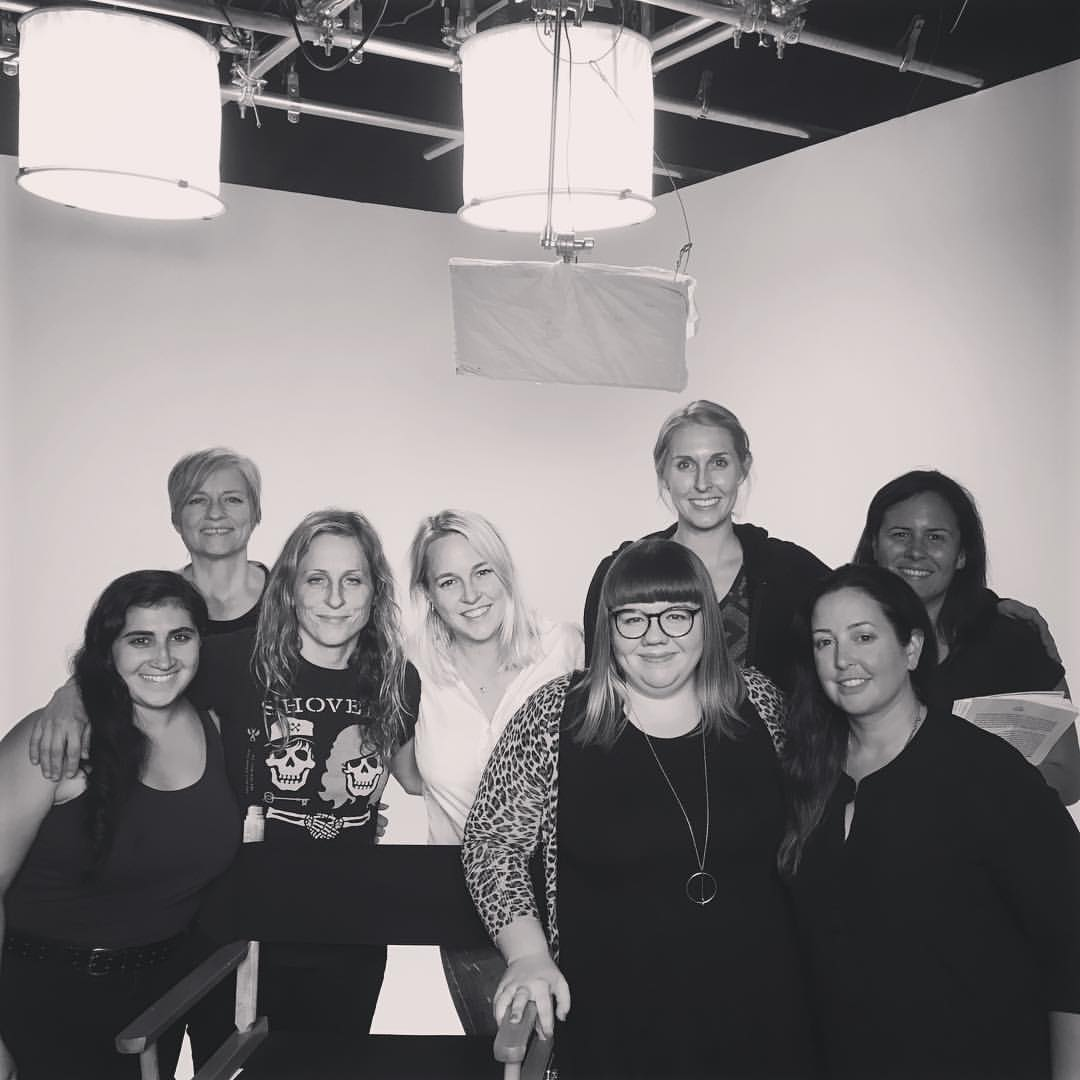 (From left to right, 1st AC Briana Del Giorno, Sound Mixer Kathryn Korniloff, Director of Photography Janine Sides, myself, Kate Hagen from the Black List who is a badass and leant herself as production support, Gaffer Katie Walker, Makeup Artist Cara Liedlich, Producer Avreille Gallagher & Superstar Editor Aimee Durant not pictured.)