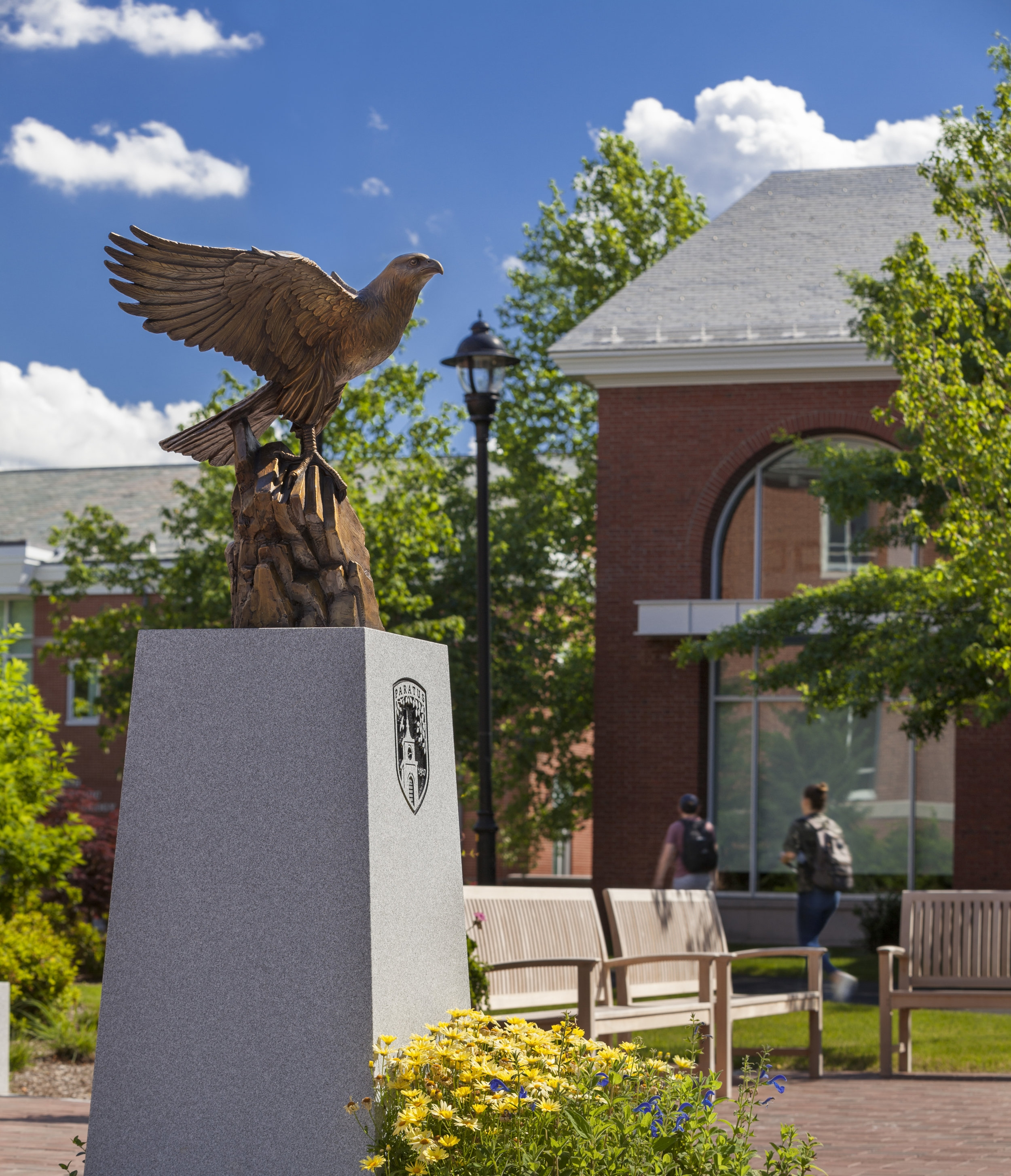Falcon sculpture by Skylight Studios