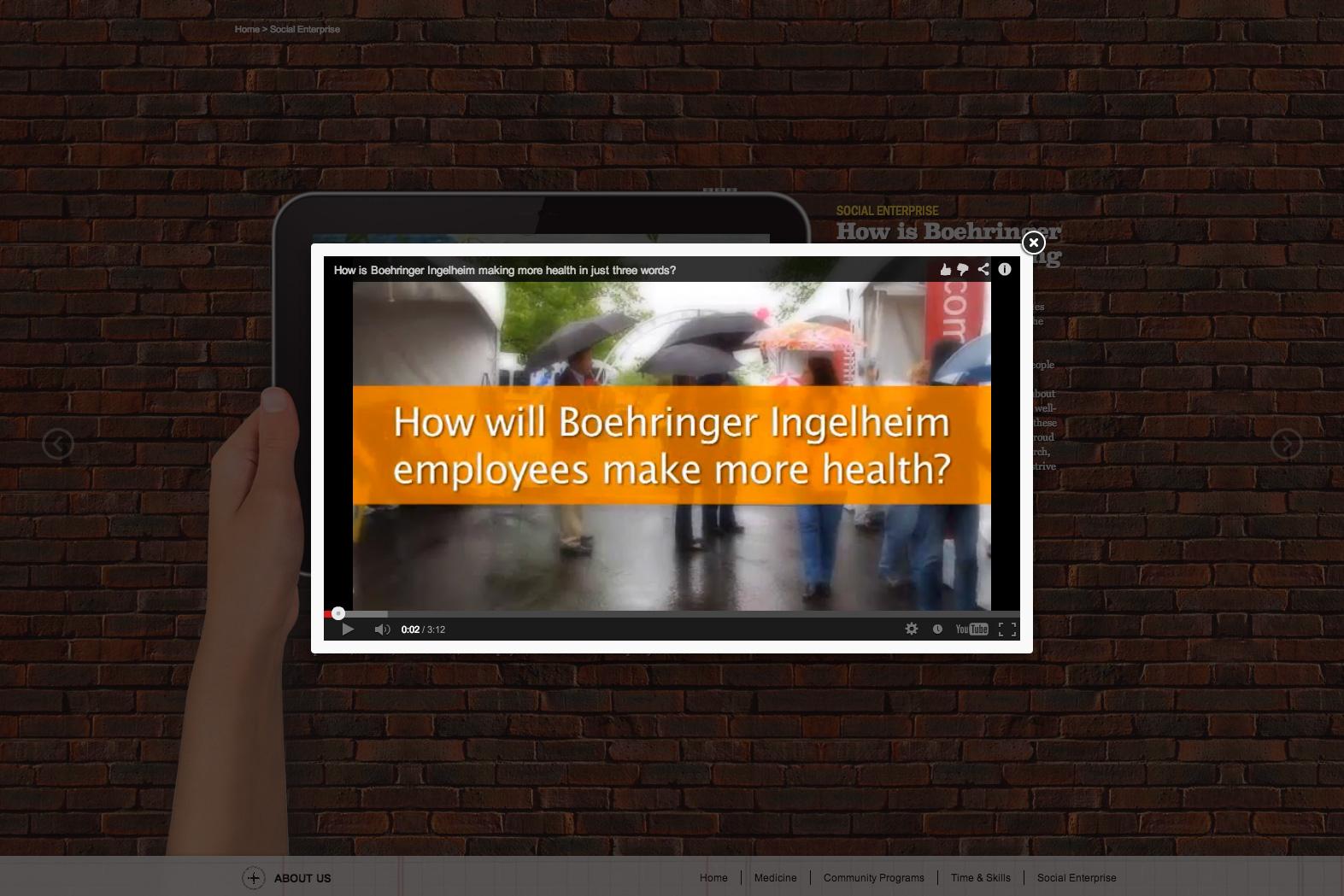 Interactive video popups