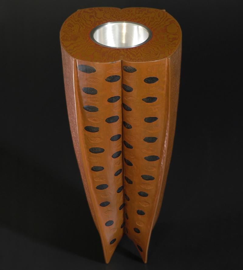 Melon Vase - Copper, Shakudo, Sterling and Mokume Gane