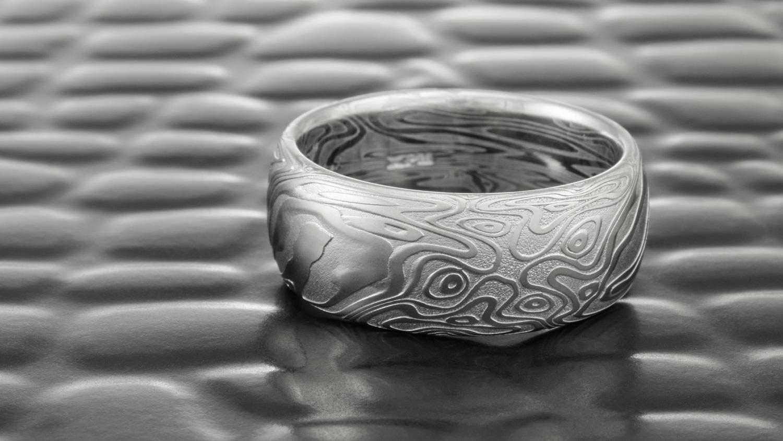 Damascus Steel Ring by Steven Jacob