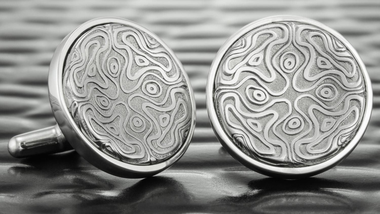 Custom Damascus Steel Cufflinks
