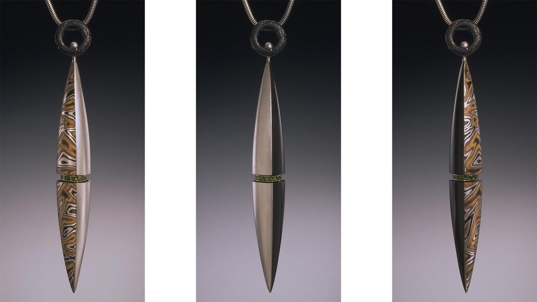 Mokume Gane Pendant by Steve Midgett