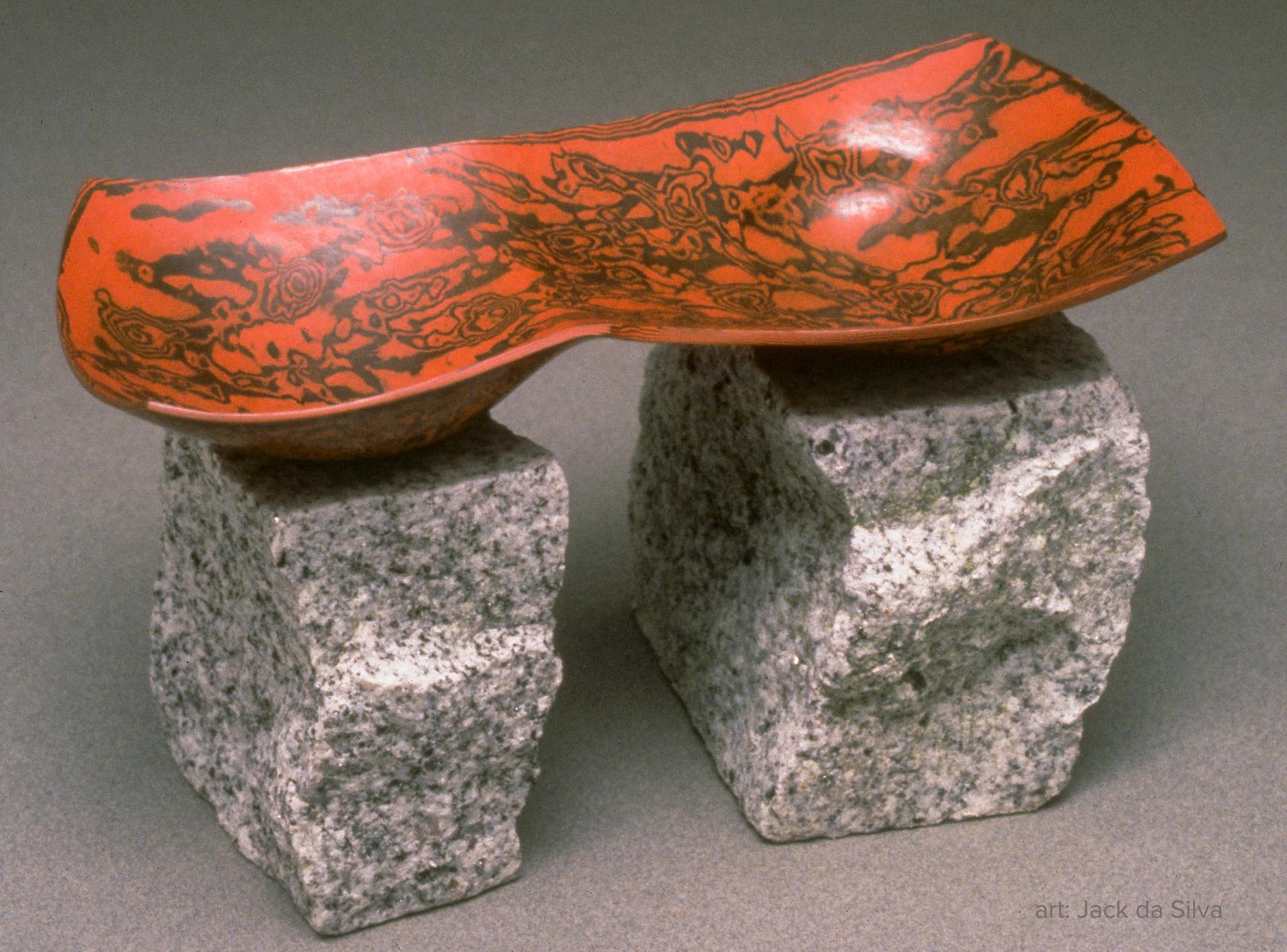 "Foundation Series: ""Before"" by Jack da Silva. Copper, kuromido, and Sierra white granite."