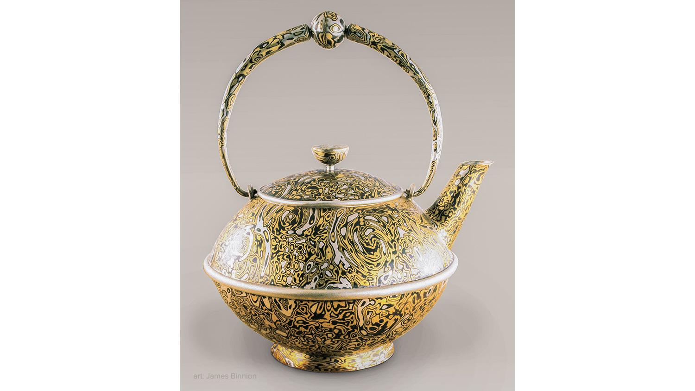 Mokume Gane Teapot by James Binnion