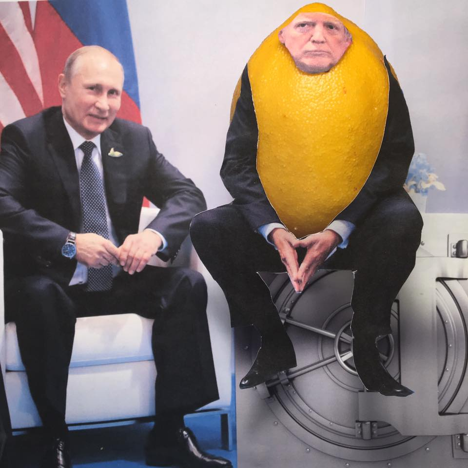 "7.9.17     Safe and Unsound...  ""Putin & I discussed forming an impenetrable Cyber Security unit so that election hacking, & many other negative things, will be guarded...and safe from FBI, Congressional, and Special Counsel investigations.""   #LemonLaw"