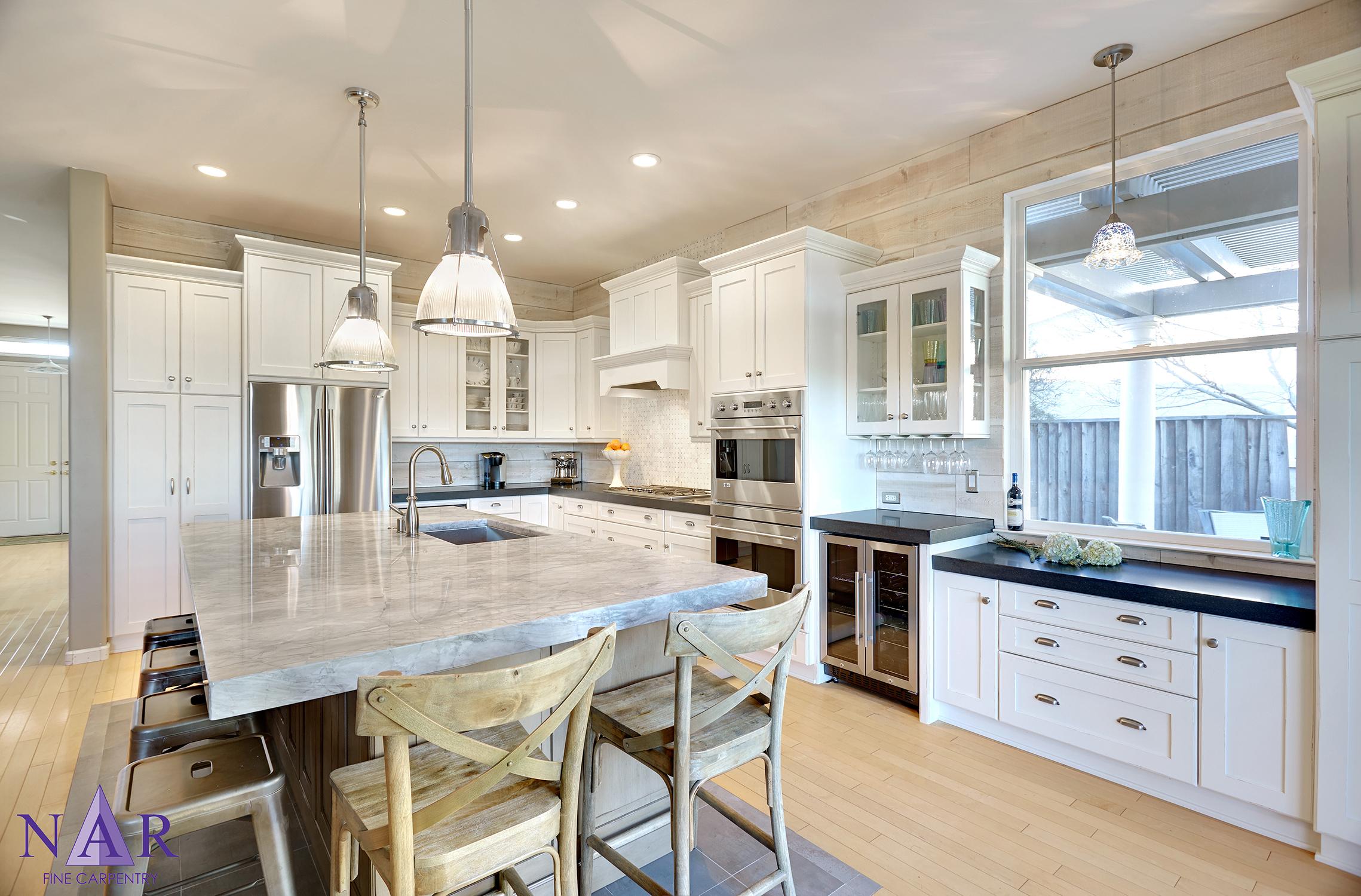 Davis Cottage Kitchen . Nar Fine Carpentry.Sacramento. El Dorado Hills