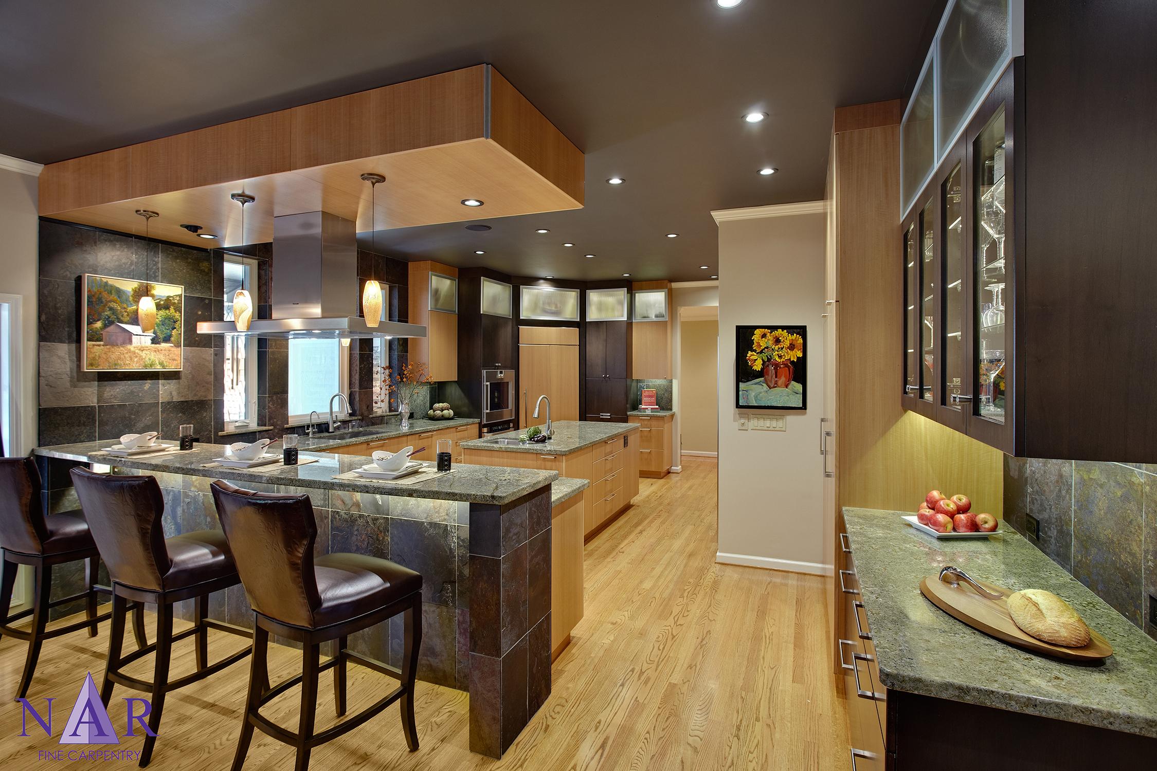 Davis Bistro Kitchen. Nar Fine Carpentry. Sacramento. El Dorado Hills