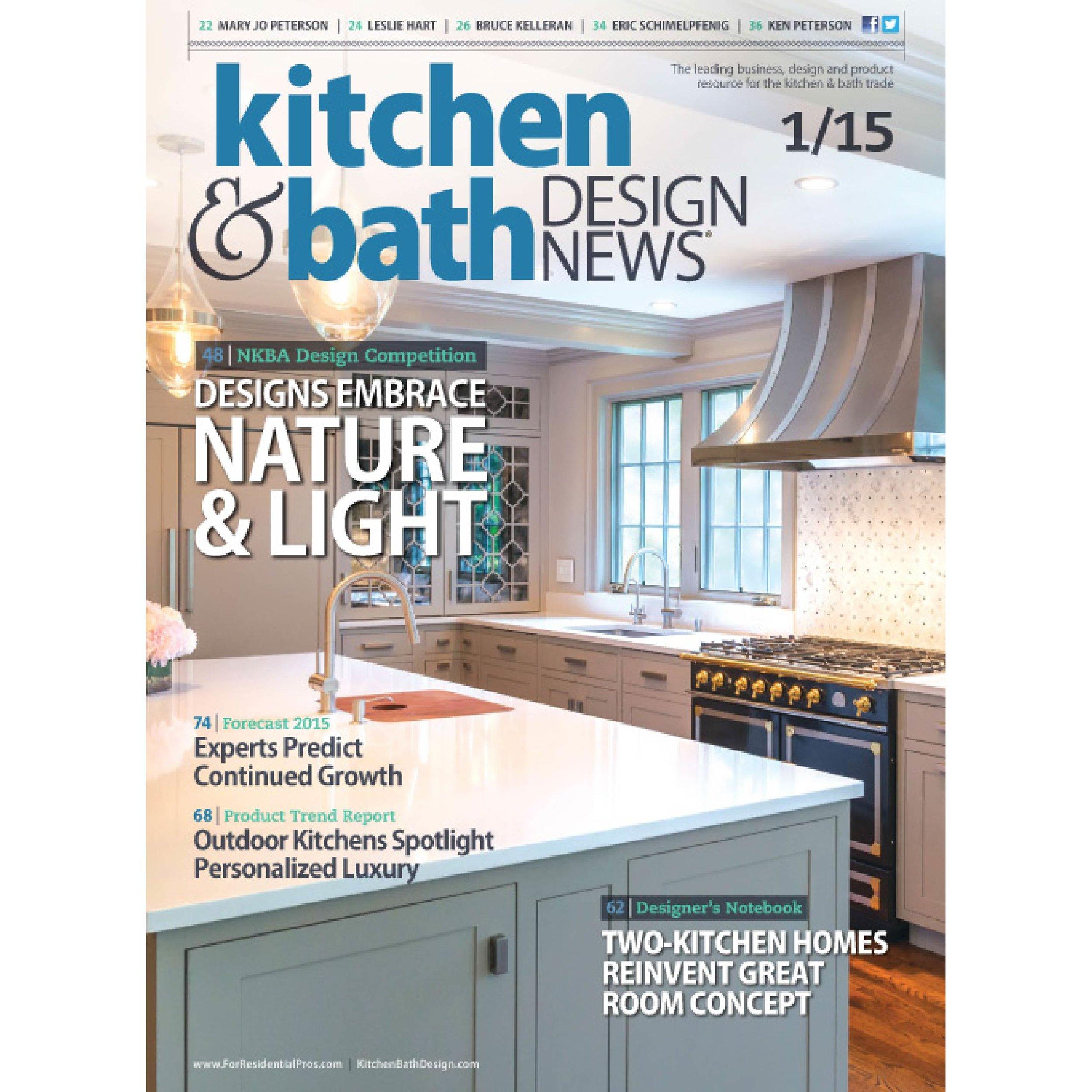 Kitchen & Bath Design News Jan 2015